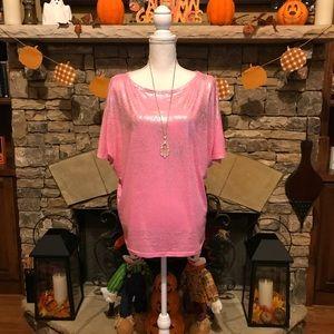 NWOT Victoria's Secret Petite Pink Batwing Top